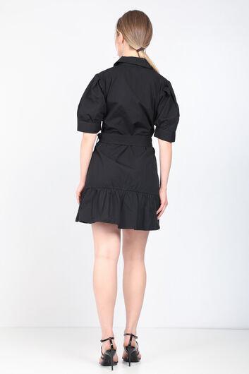MARKAPIA WOMAN - Kadın Siyah Kemerli Ceket Elbise (1)