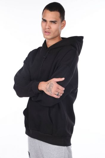 MARKAPIA MAN - Kangaroo Pocket Hooded Men's Sweatshirt (1)