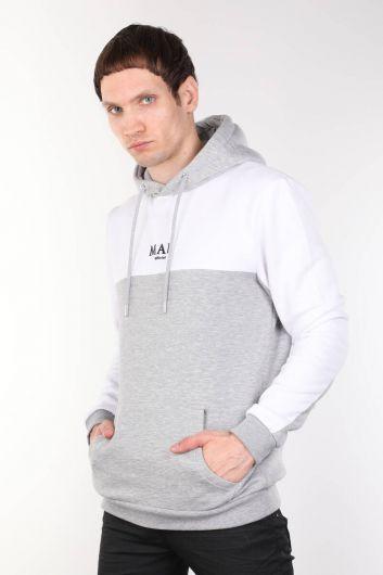 MARKAPIA - Kapüşonlu Cepli Şardonlu Erkek Sweatshirt (1)