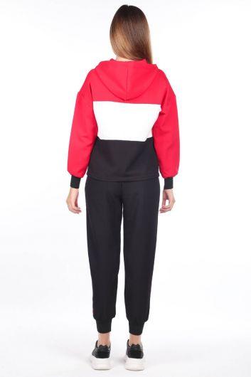 MARKAPIA WOMAN - Женский эластичный спортивный костюм с капюшоном (1)
