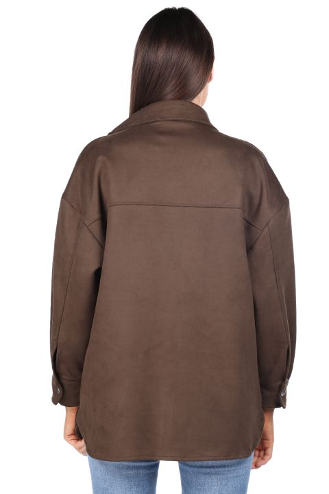 Khaki Suede Women's Jacket