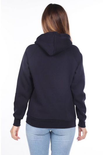 MARKAPIA WOMAN - King Applique Women's Fleece Hooded Sweatshirt (1)