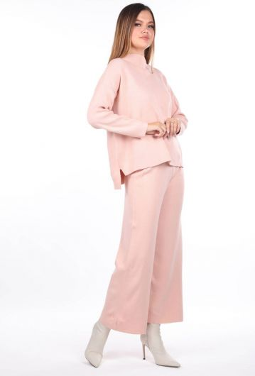 MARKAPIA WOMAN - Pink Knitwear Bottom Top Set (1)