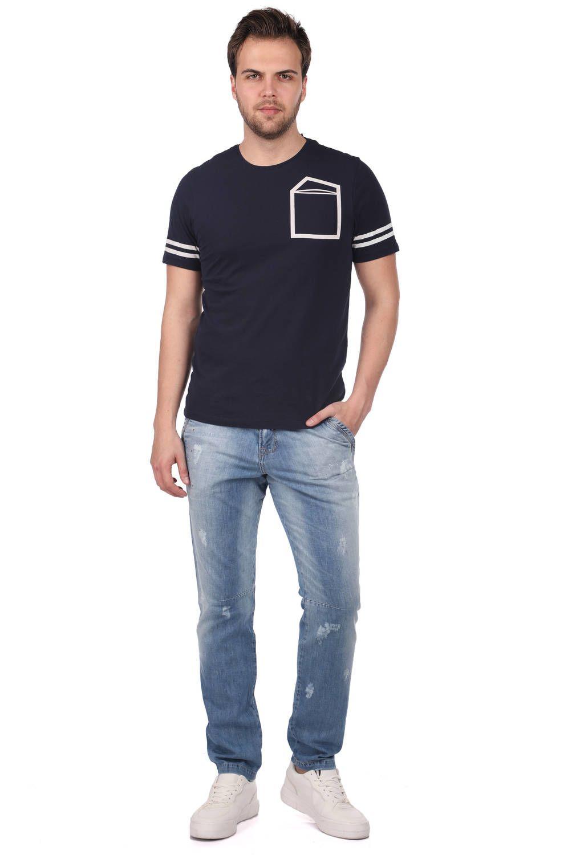 Koldan Çizgili Erkek T-Shirt