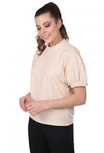 MARKAPIA WOMAN - Блузка с присборенными рукавами-кремовая (1)