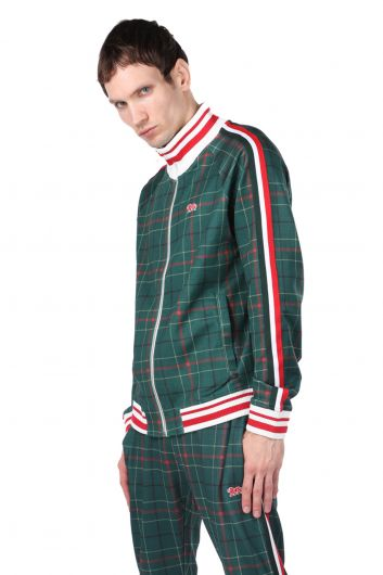 LONSDALE - Men's Zippered Sweatshirt with Striped Sleeve and Elastic (1)