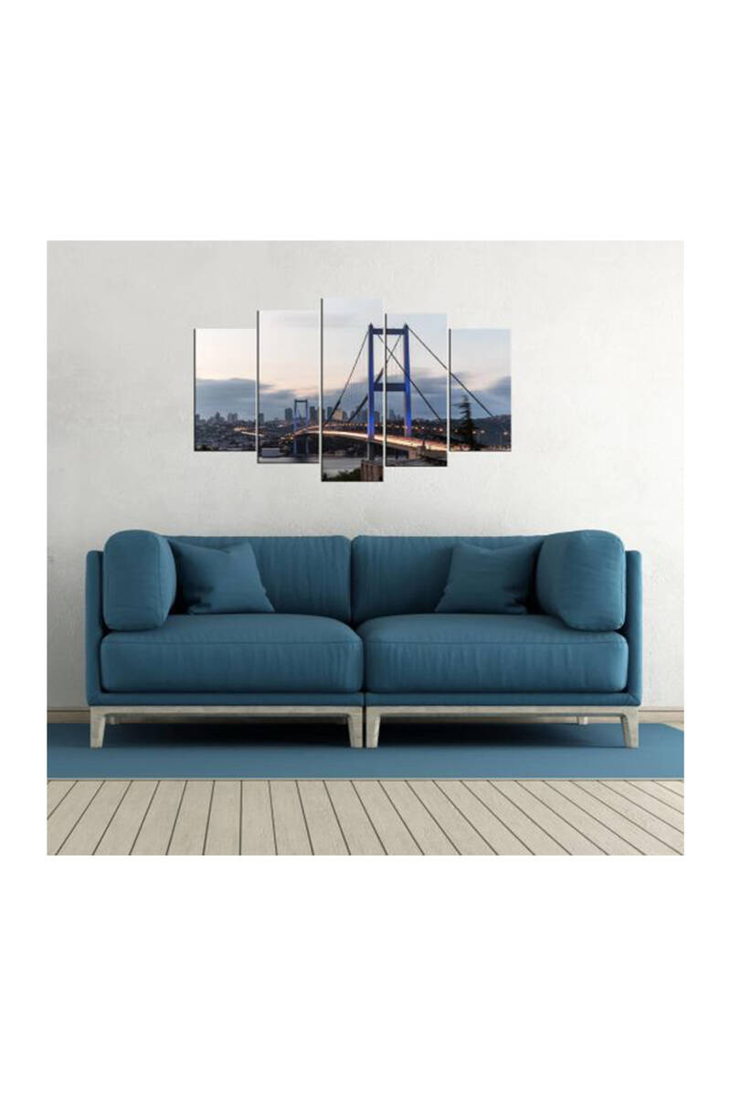 Köprü Manzaralı 5 Parçalı Mdf Tablo-3538