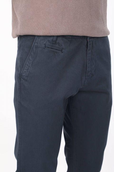 Lacivert Erkek Rahat Kesim Chino Pantolon