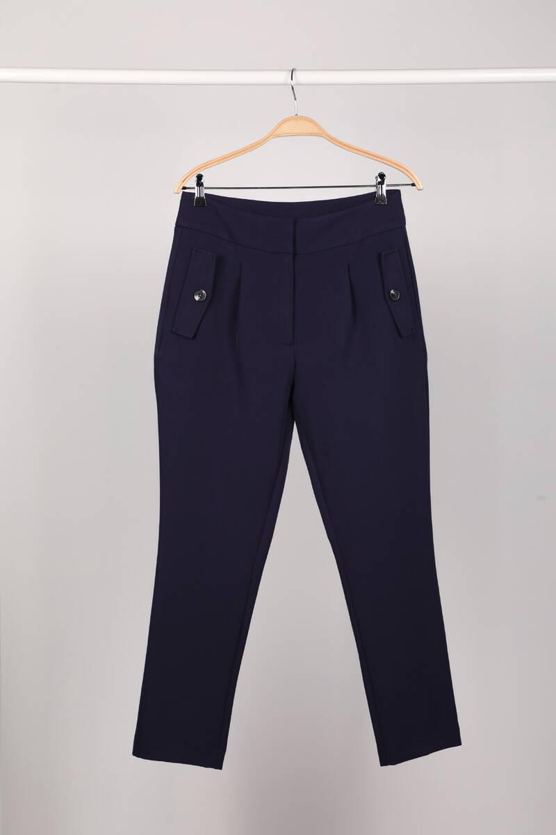Lacivert Kadın Kumaş Pantolon