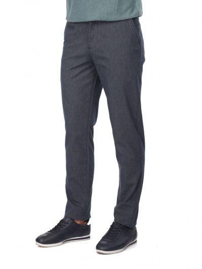 MARKAPIA MAN - Lacivert Rahat Kesim Erkek Chino Pantolon (1)