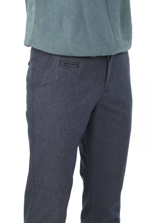 Lacivert Rahat Kesim Erkek Chino Pantolon