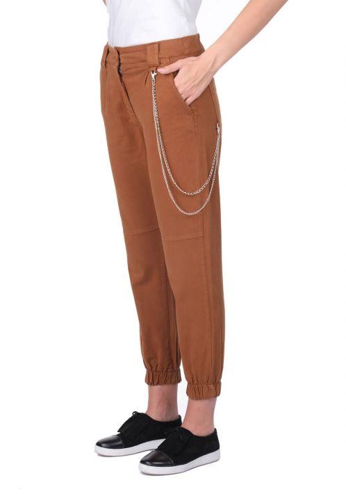 Women's Jogger Leg Elastic Jean Trousers