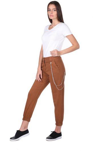Women's Jogger Leg Elastic Jean Trousers - Thumbnail
