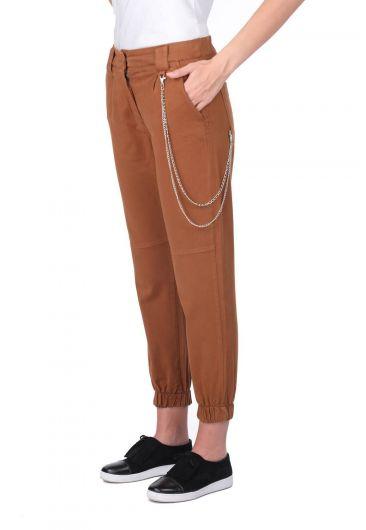 Женские эластичные джинсовые брюки для бега трусцой - Thumbnail