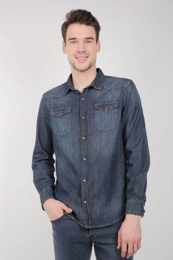 Мужская джинсовая рубашкаLast Player - Thumbnail
