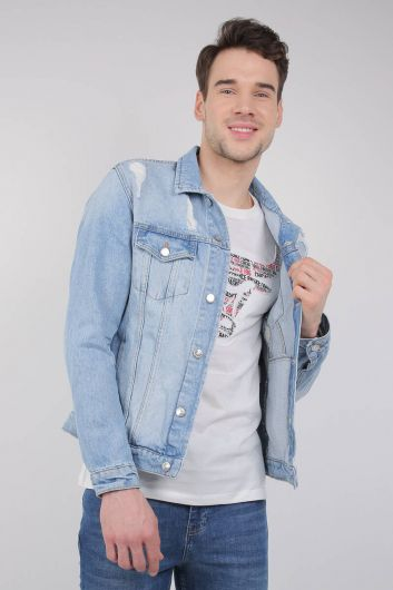 LAST PLAYER - Last Player Men's Jean Jacket (1)