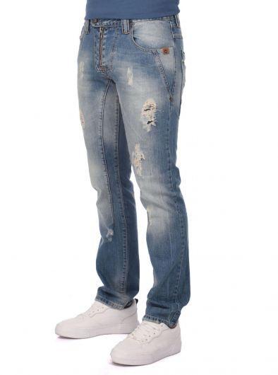 LAST PLAYER - Мужские джинсы с детализированной отделкой Last Player (1)