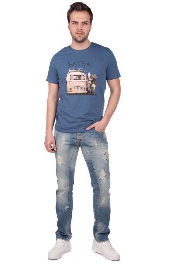 Мужские джинсы с детализированной отделкой Last Player - Thumbnail