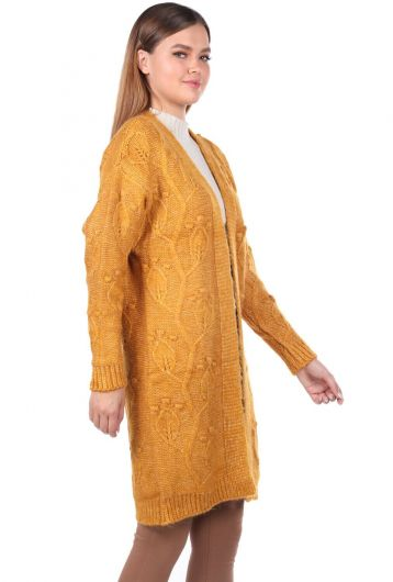 MARKAPIA WOMAN - Leaf Patterned Knitwear Cardigan (1)