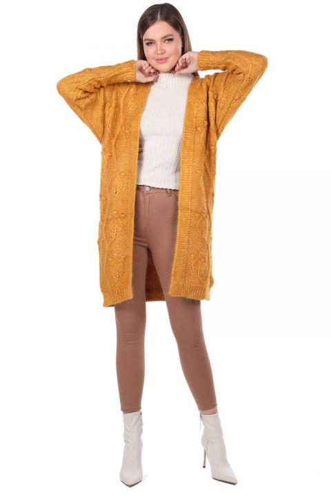 Leaf Patterned Knitwear Cardigan