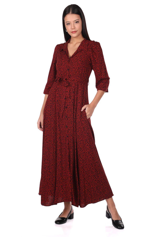 Платье с леопардовым узором