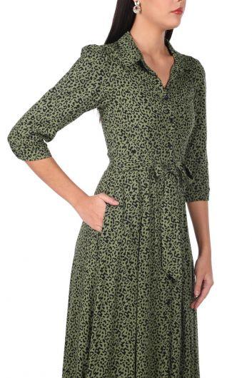 Платье с леопардовым узором - Thumbnail
