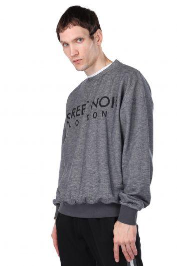 MARKAPIA MAN - London Printed Elastic Men's Sweatshirt (1)