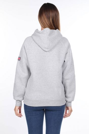 MARKAPIA WOMAN - London England Aplikeli İçi Polarlı Kapüşonlu Sweatshirt (1)