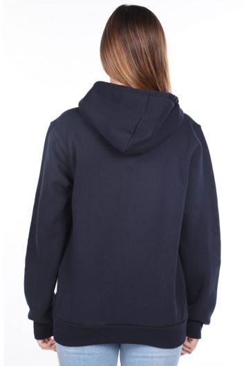 MARKAPIA WOMAN - London England Applique Inner Fleece Zippered Sweatshirt (1)