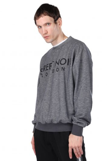 MARKAPIA MAN - London Printed Elastic Men's Crew Neck Sweatshirt (1)