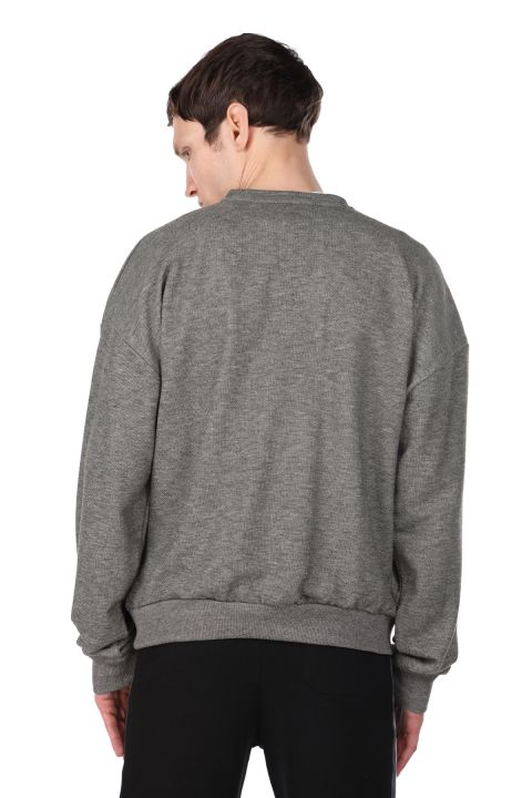 London Printed Men's Crew Neck Sweatshirt