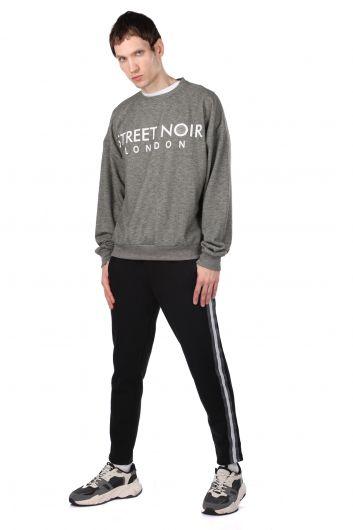 London Printed Men's Crew Neck Sweatshirt - Thumbnail