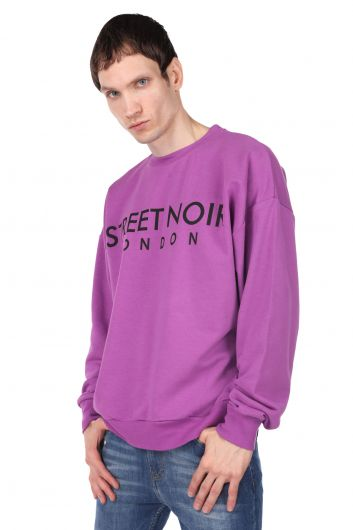 MARKAPIA MAN - Пурпурный мужской свитшот с круглым вырезом с принтом London (1)
