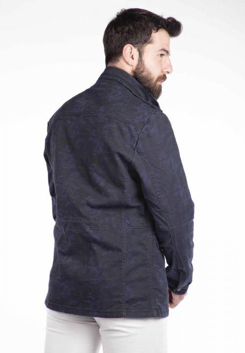 Джинсовая куртка Makapia с камуфляжным узором