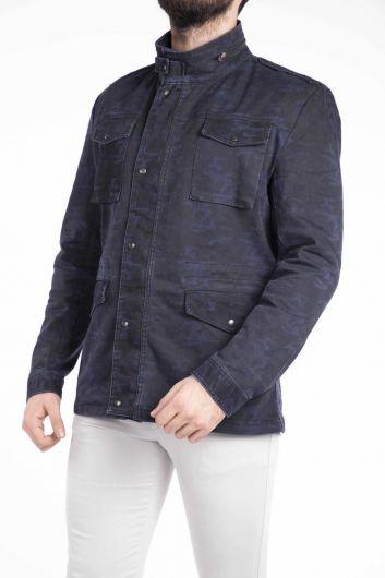 Джинсовая куртка Makapia с камуфляжным узором - Thumbnail