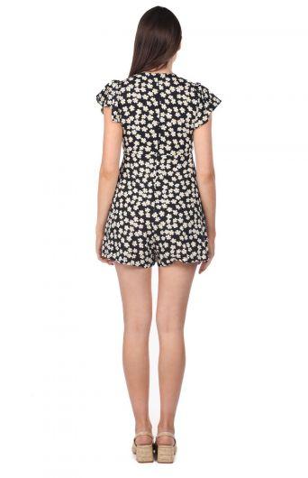 Платье-комбинезон с шортами и цветочным узором - Thumbnail