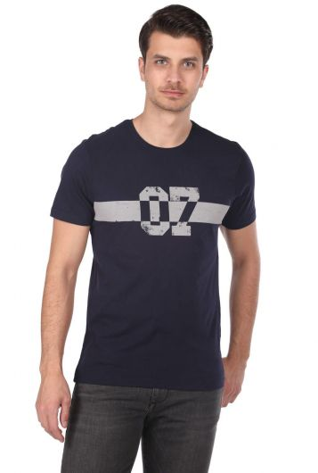 MARKAPIA MAN - Markapia 07 Baskılı Erkek Bisiklet Yaka T-Shirt (1)