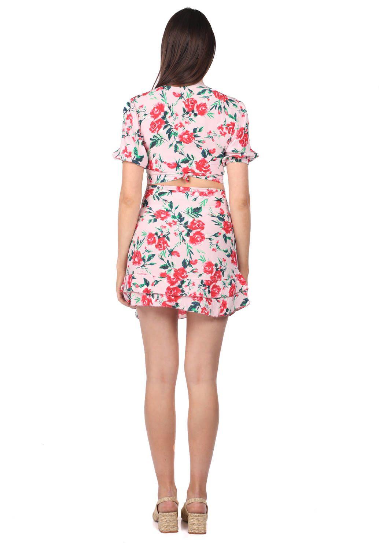 Markapia Alt Üst Çiçek Desenli Takım Elbise