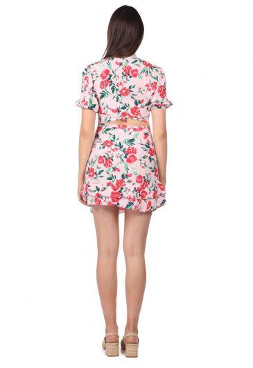 Markapia Alt Üst Çiçek Desenli Takım Elbise - Thumbnail