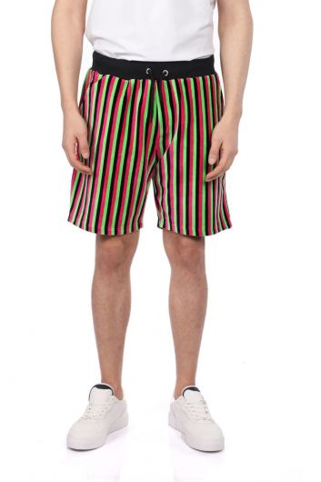 Мужские шорты в черную полоску Markapia - Thumbnail