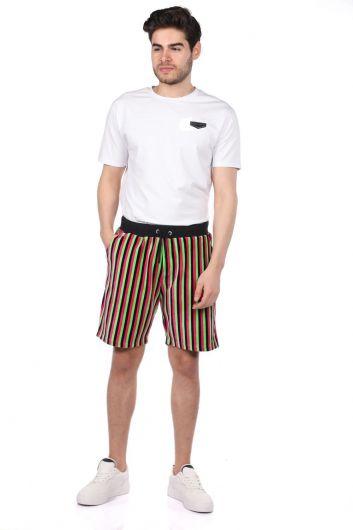 Markapia Black Striped Shorts - Thumbnail