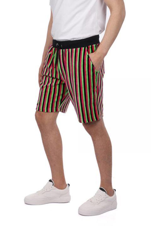 Markapia Black Striped Shorts