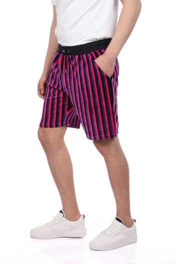 MARKAPIA MAN - Мужские шорты в черную полоску Markapia (1)