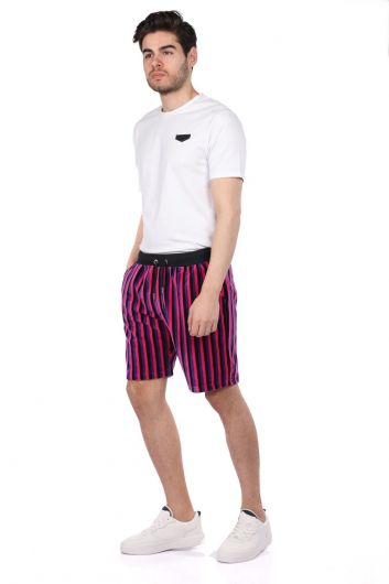 Markapia Black Striped Shorts - Thumbnail