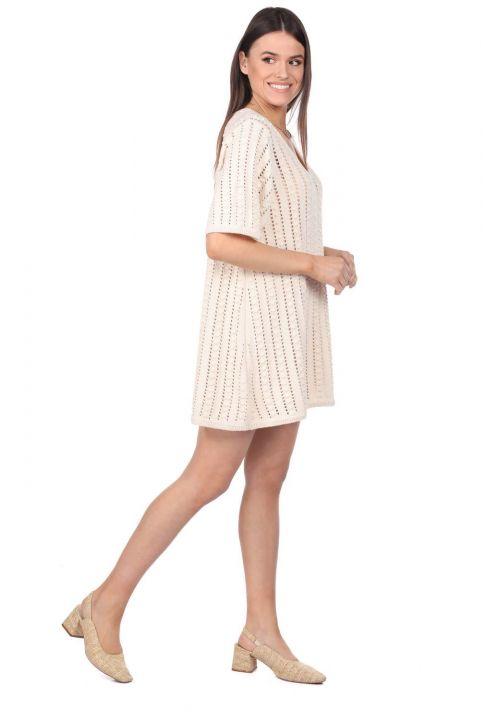 Markapia Bol Kesim Mini Triko Elbise