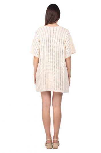 Markapia Bol Kesim Mini Triko Elbise - Thumbnail