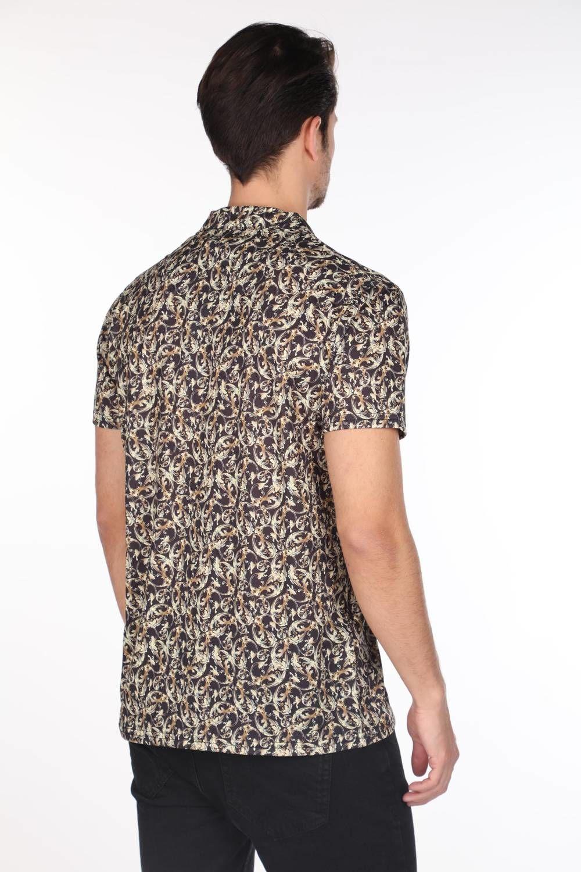 Мужская рубашка с коротким рукавом и узором Markapia