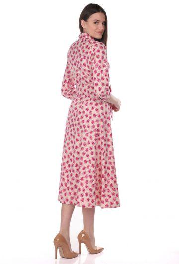 Markapia Çiçek Desenli Gömlek Elbise - Thumbnail