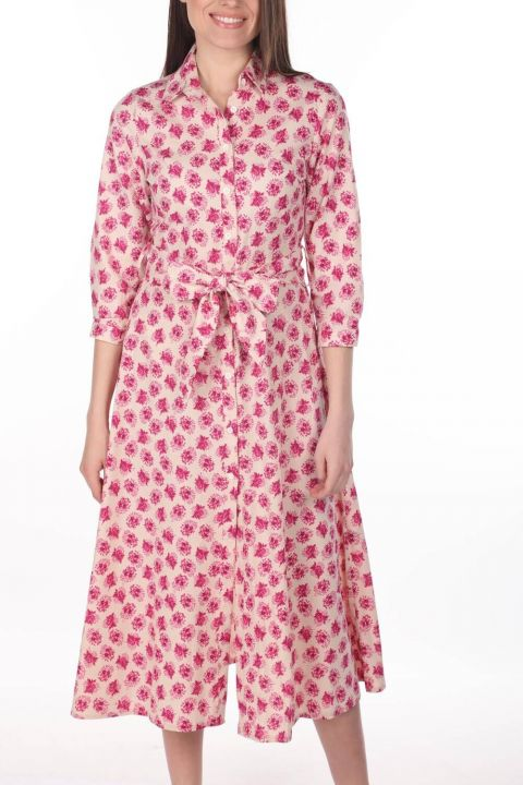 Markapia Çiçek Desenli Gömlek Elbise