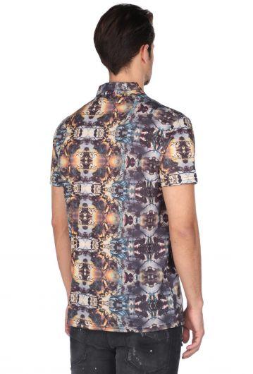 Рубашка с коротким рукавом Markapia с ярким рисунком - Thumbnail
